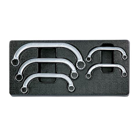 Набор двойных накидных ключей STARTER в ложементе, 5 предметов, HONITON IK-HMW0050C