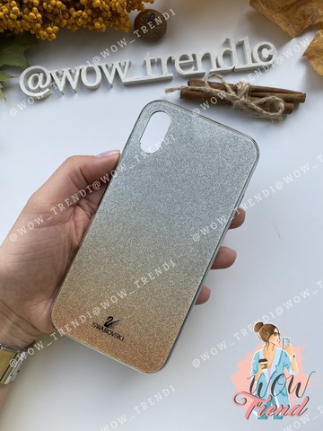 Чехол iPhone X/XS Swarovski Case /gold/
