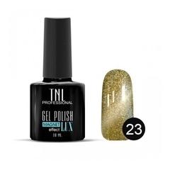 TNL, Гель-лак Magnet LUX №23 - медно-оливковый с блестками, 10 мл