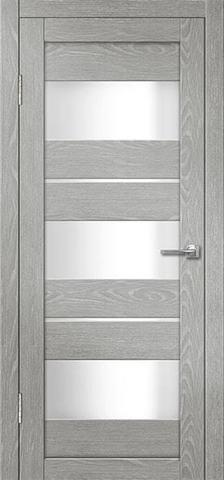 Дверь Porte Line 20, стекло снег, цвет ясень грей, остекленная
