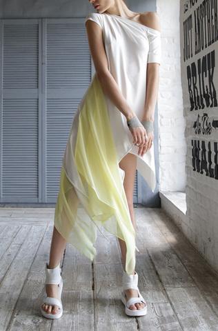 Платье «Aurora Blanc Lime»