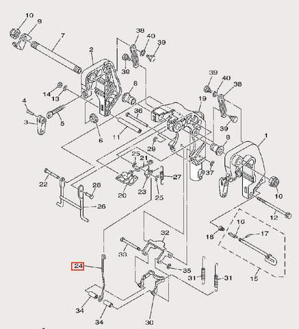 Тяга фиксирующая для лодочного мотора F9,9 Sea-PRO (21-24)