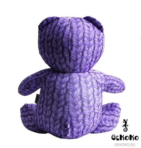 Подушка-игрушка антистресс «МиниМишка Вязаный», фиолетовый 4