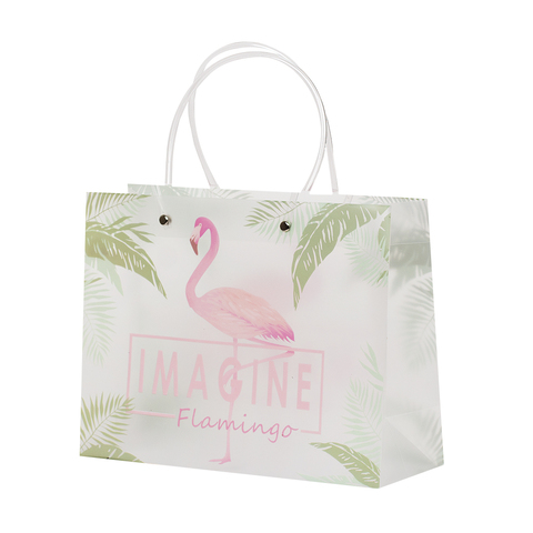 Пакет Clear Flamingo&Leaves