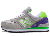 Кроссовки Женские New Balance 574 Grey Violet Green Mirror