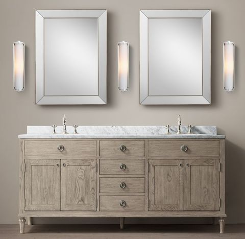 Maison Double Vanity - Antiqued Grey Oak