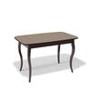 Стол кухонный KENNER 1200C, раздвижной, стекло капучино матовое, подстолье венге
