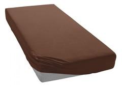 Простыня трикотажная 180-200x200 Elegante 8000 шоколад