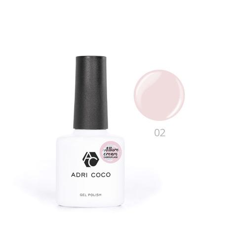 Гель-лак ADRICOCO Allure сream №02 камуфлирующий нежно-розовый (8 мл.)