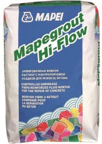 Mapei Mapegrout Hi-Flow/Мапей Мапеграут Хай-Флоу ремонтная смесь наливного типа для ремонта бетонных и железобетонных конструкций