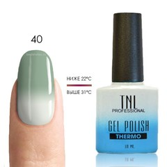 Термо гель-лак TNL 40 - серо-зеленый/белый, 10 мл