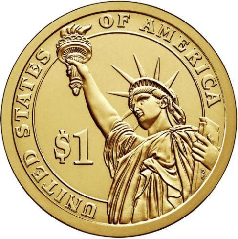 1 доллар 38-й Президент США Джеральд Форд. 2016 год
