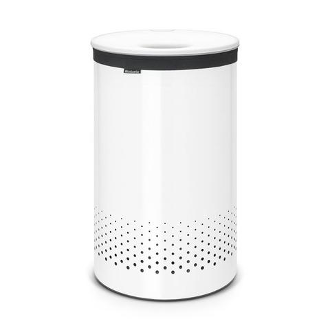 Бак для белья с пластиковой крышкой (60 л), Белый, арт. 105142 - фото 1