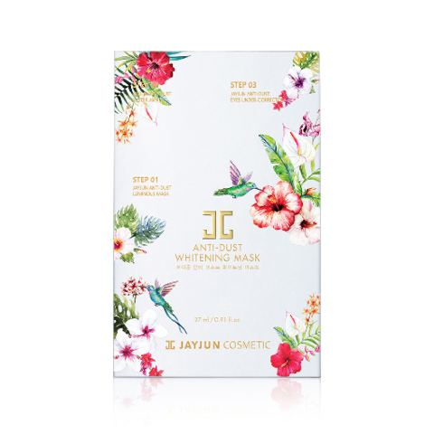 Выравнивающий тон кожи трёхшаговый детокс-комплекс / JayJun Anti-Dust Whitening Mask