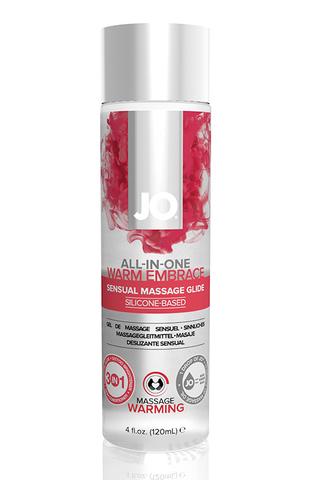 Универсальная гель-смазка на силиконовой основе с согревающим эффектом JO All-In-One Massage Glide – фото