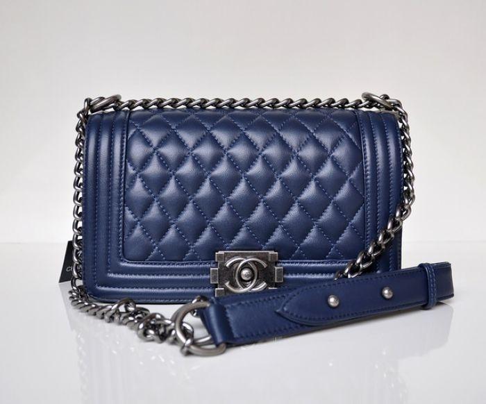 a772c3a41c2d Купить женскую сумку Chanel Le Boy Flap Blue