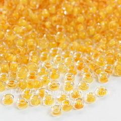 Бисер 10/0 Preciosa прозрачный с желто-оранжевым центром