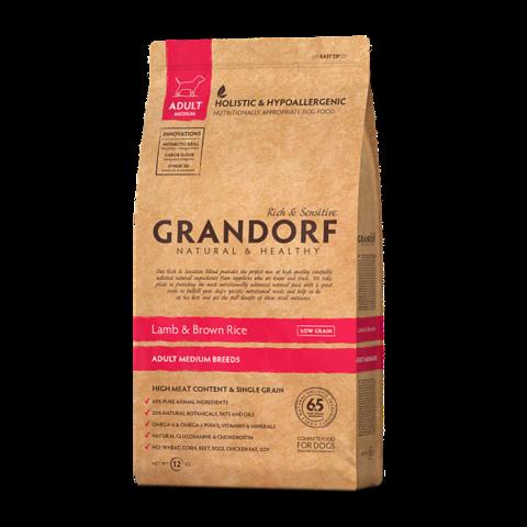 Grandorf Lamb & Rice Adult Medium Сухой корм для взрослых собак средних пород Ягненок с рисом низкозерновой