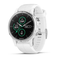 Компактные мультиспортивные часы Garmin Fenix 5S Plus Sapphire - белые с белым ремешком 010-01987-01