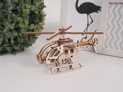 Конструктор 3D деревянный Lemmo Вертолет Стриж