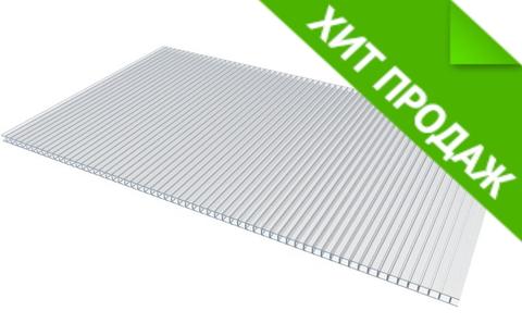 Сотовый поликарбонат 4 мм прозрачный 2.1х6 м