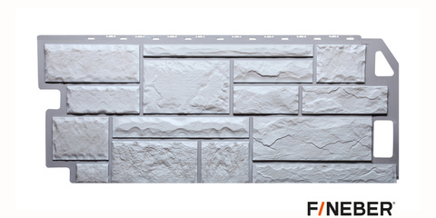 Фасадная панель Fineber Камень мелованный белый 1137х470 мм