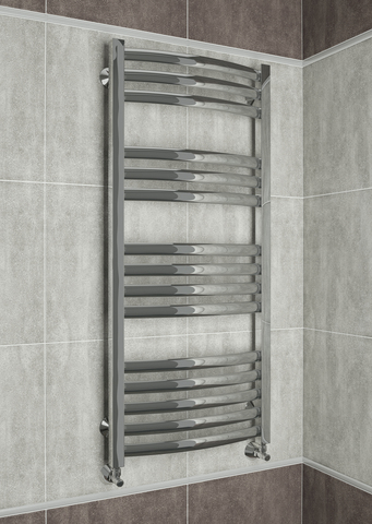 Palermo E - электрический дизайн полотенцесушитель с прямоугольными горизонталями.