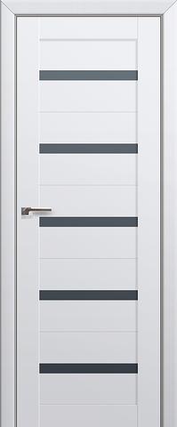 > Экошпон Profil Doors № 7 U, стекло графит узор, цвет аляска, остекленная