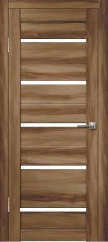 Дверь Дверлайн Грация-1, стекло снег, цвет барон тёмный, остекленная