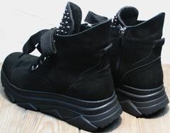 Ботинки женские демисезонные кожаные Rifellini Rovigo 525 Black.