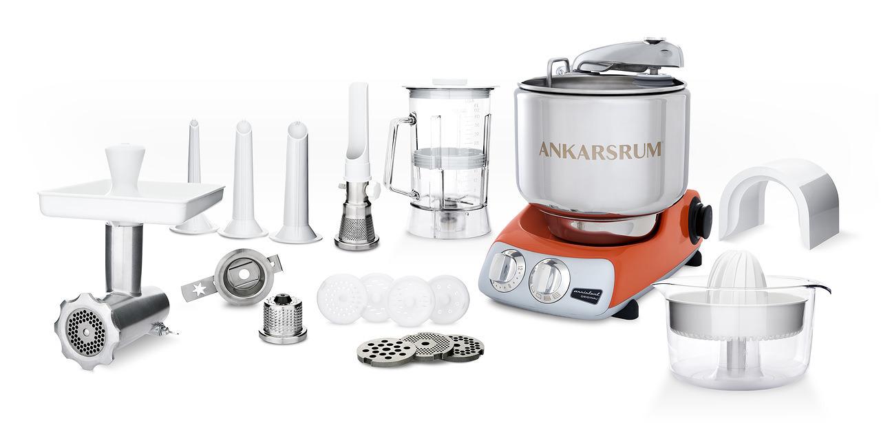 Тестомес комбайн Ankarsrum AKM6230PO+ Assistent оранжевый (расширенный)