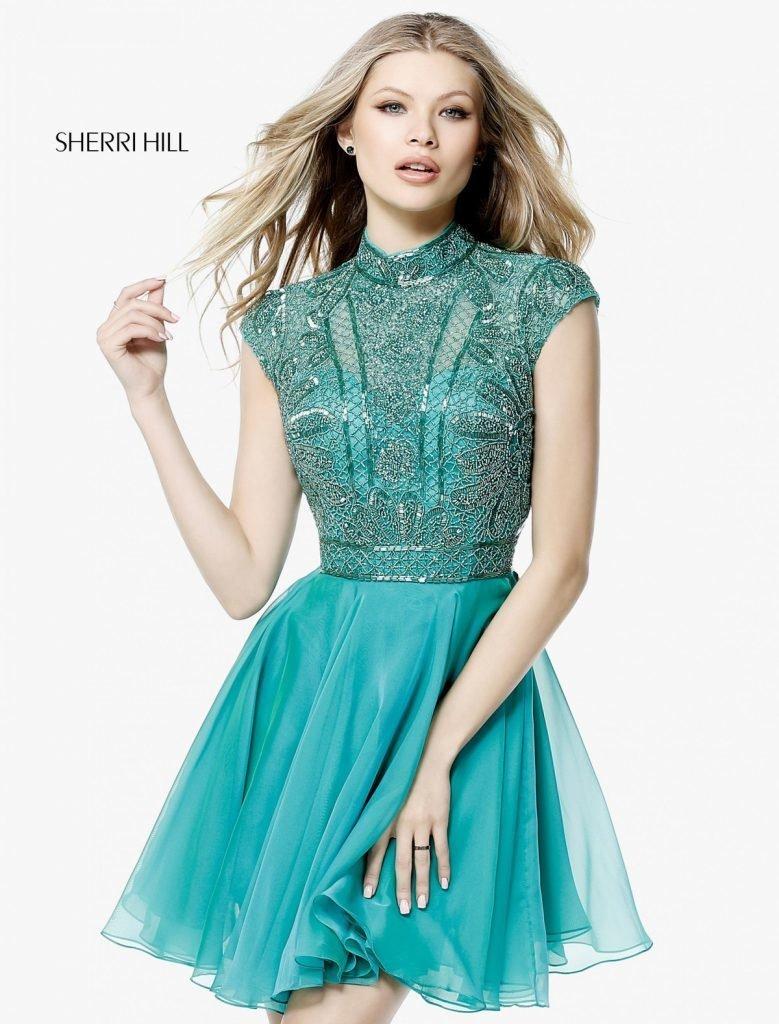 Sherri Hill 51291 blue Нежное платье в голубом цвете