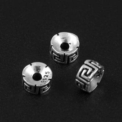 Рондель разделитель Греческий 5,2х2,8 мм серебро 925