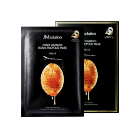 Jmsolution Honey Luminous Royal Propolis Mask/ Маска для лица с прополисом и маточным молочком 1шт