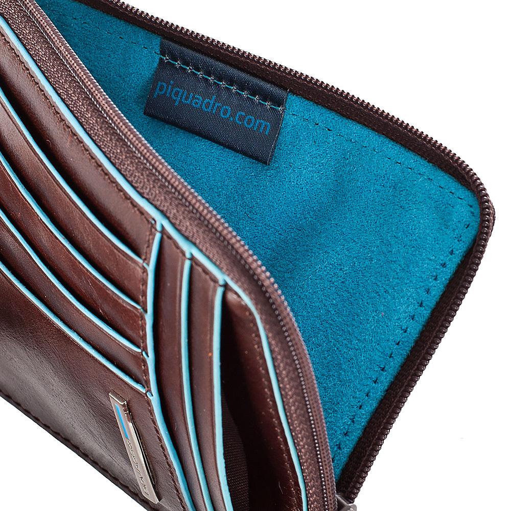 Чехол для кредитных карт Piquadro Blue Square, цвет коричневый, 12,5x9x1 см (PU1243B2/MO)