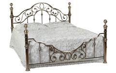 Кровать Каролина 200x140 (9603 MK-2204-AB) Античная медь