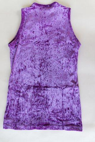 Футболка-безрукавка, рост 140 см (фиолетовый)