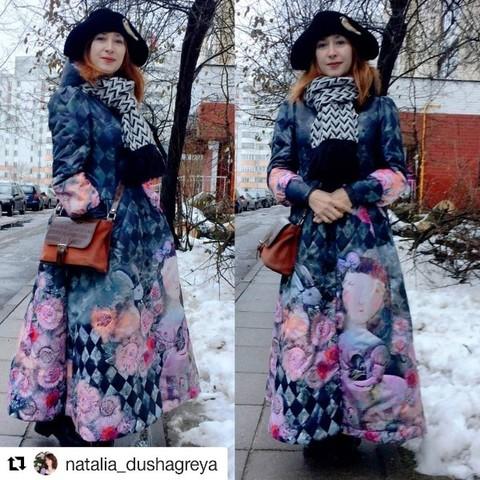 Художница Силивончик Анна в пальто