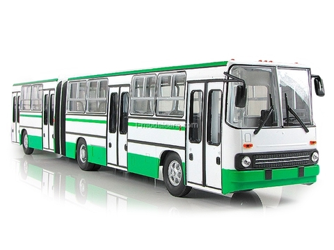 Ikarus-280.64 planetary doors Moscow white-green Soviet Bus 1:43
