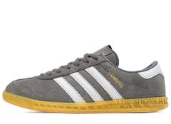 Кроссовки Мужские Adidas Hamburg Suede Grey White Beige
