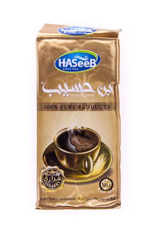 Арабский кофе Haseeb натуральный молотый с кардамоном экстра, 200 г