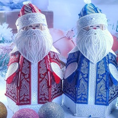 Дед Мороз ажурный 30 см (ночник)