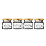 Набор из 4 стеклянных баночек для джема, мёда, специй 55 мл Kilner K_0025.796V | Купить в Москве, СПб и с доставкой по всей России | Интернет магазин www.Kitchen-Devices.ru