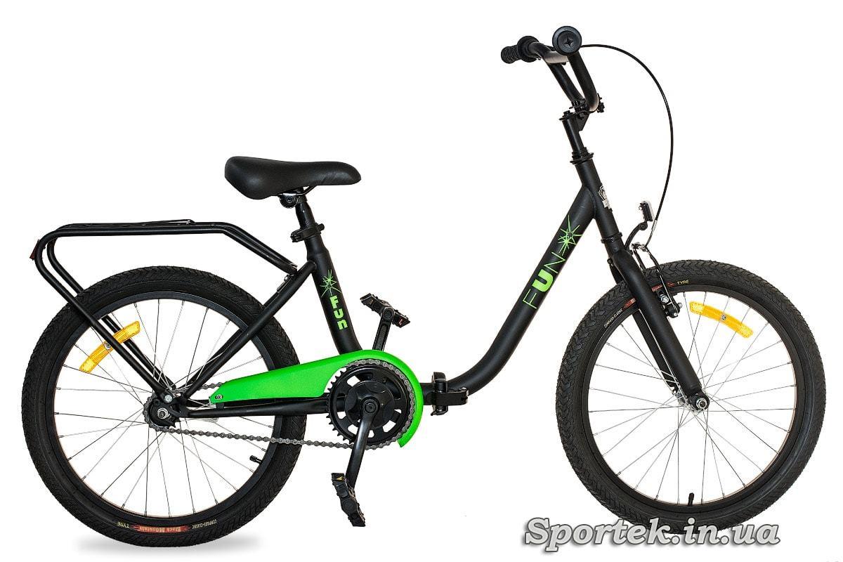 Черно-зеленый складной подростковый велосипед для мальчиков Dorozhnik Fun 2016