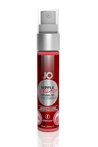 Возбуждающий гель JO® Nipple Titillator Снежная клубника (Electric Strawberry) - 30 мл. фото
