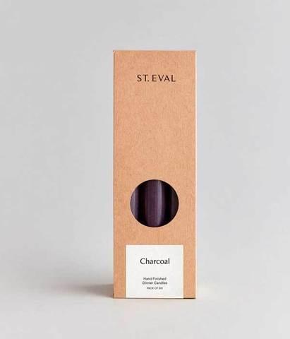 Классические декоративные свечи 20 см черные 6 шт, St.Eval