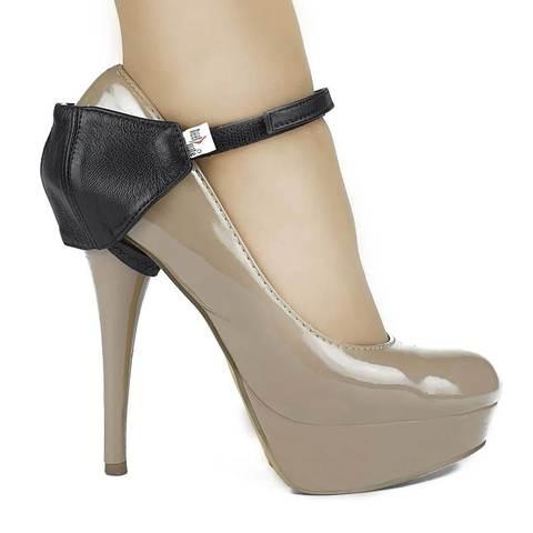 Автопятка для женской обуви на каблуке черная