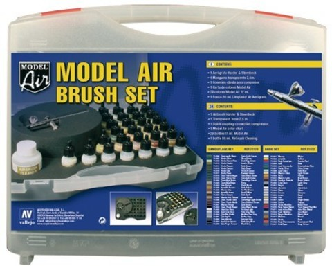 Model Air Basic Color Case & Airbrush (29) 17 ml.