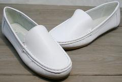 Мокасины из натуральной кожи женские AESD 902 White