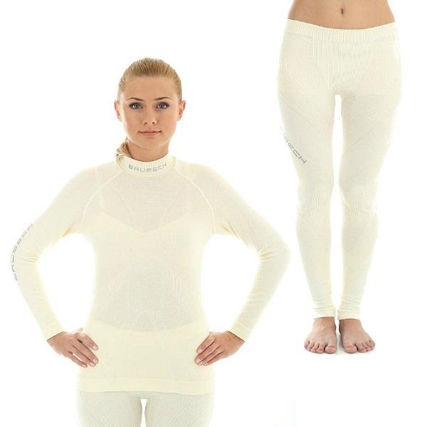 Комплект термобелья женский Brubeck Extreme Merino (LS10500-LE10300) белый